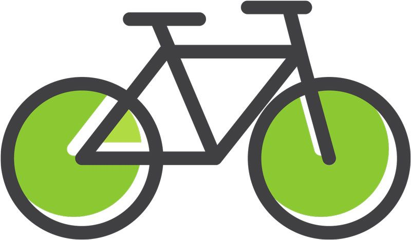An icon shows a bike with green tires