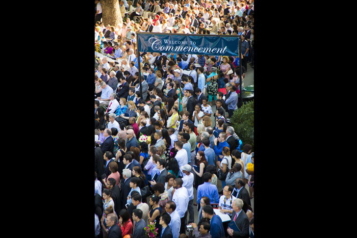 Some 15,000 graduates and visitors gathered on Emory's quadrangle on May 12, 2014 for the main commencement ceremony.