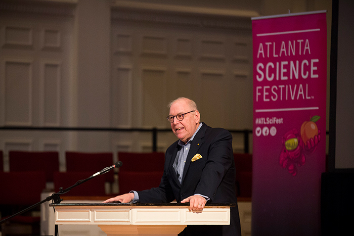 Dr. Stuart Zola, interim dean of Emory College at the Atlanta Science Festival 2017 opening event