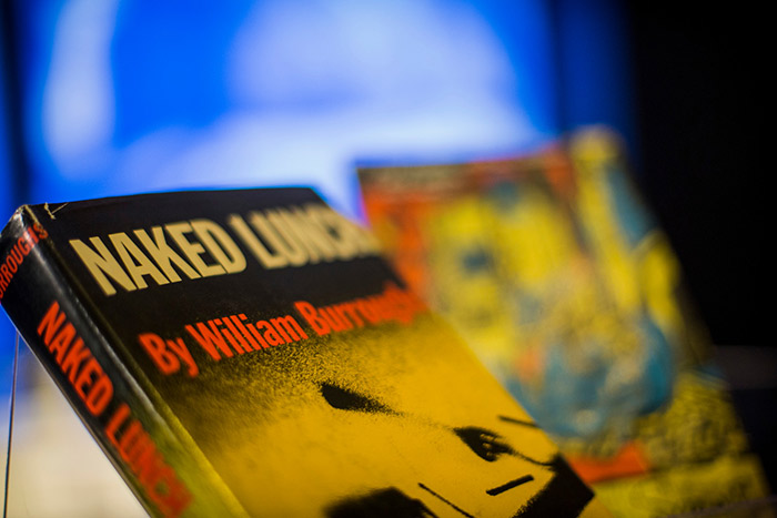 "A well-preserved, first-edition copy of William S. Burroughs' ""Naked Lunch."""