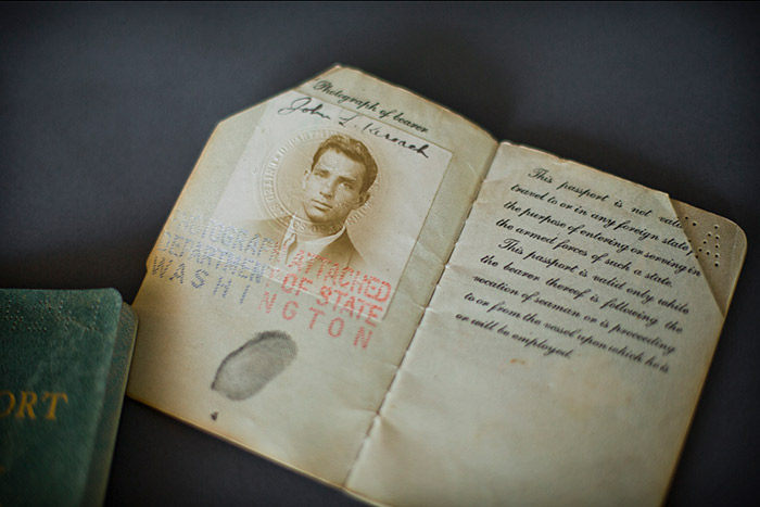 Jack Kerouac's 1942 passport in excellent condition.