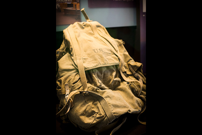 Jack Kerouac's brown rucksack in excellent condition.