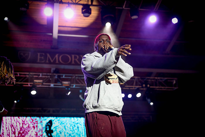 Lil Yachty performs at a Dooley's Week concert