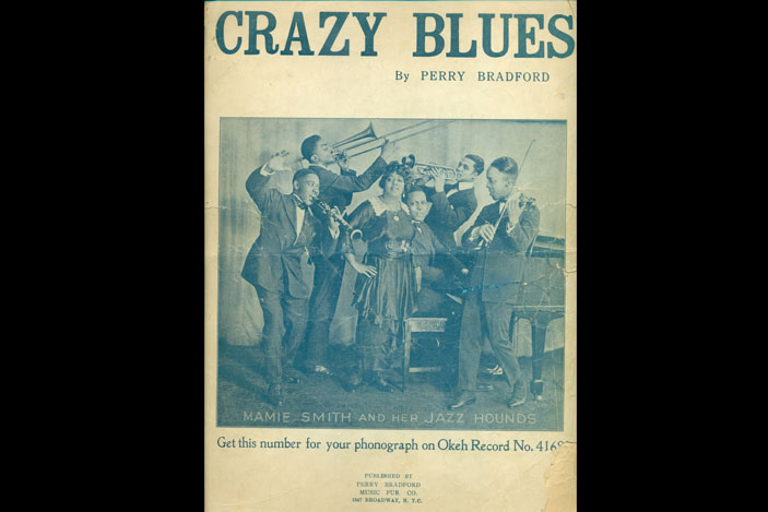 Sheet music cover with Mamie Smith & Her Jazz Hounds, New York, 1920