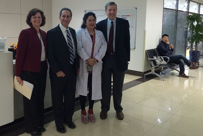 Left to Right: Kathy Lee Bishop, Laurence Sperling, MD, Xaioping Meng, MD, David Burke, MD