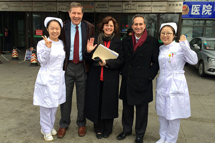 Emory faculty members paid a visit to their medical colleagues in the Jilin province of northeast China.
