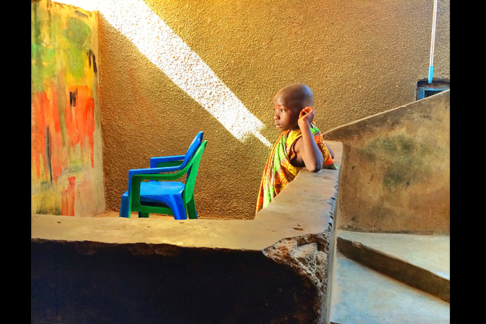 "Second place: ""Backdrop,"" Ghana. Photo by Karishma Mehrotra."