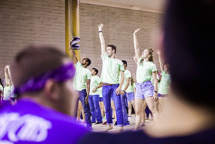 Students dance at Songfest