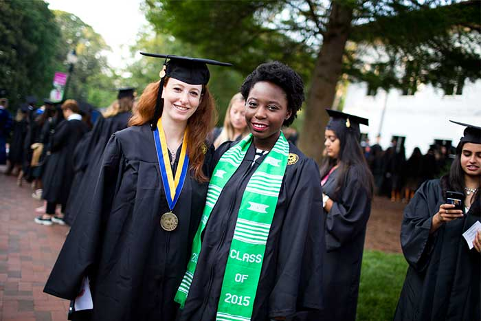 Emory University President James Wagner acknowledged the unique composition of the graduating class ¿ 57 percent are women, 43 percent men -- who represent nearly every state in the United States and some 78 countries.