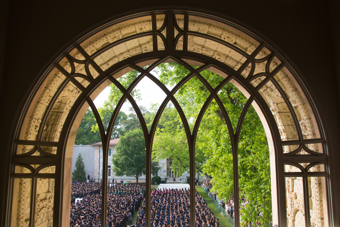 "The Emory community ""demonstrates again and again that a university can, and I believe must, have a soul,"" President Wagner tells Commencement attendees."