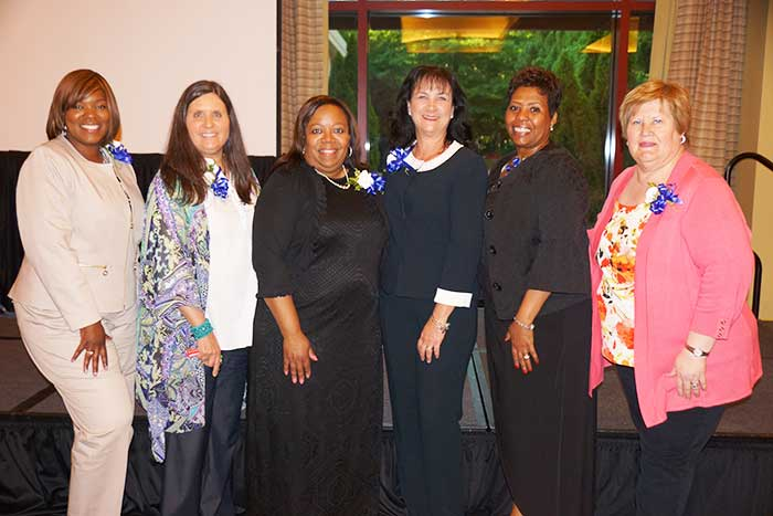Members of the Emory Healthcare Nursing Recruitment and Retention Council's Nurse Week Awards Banquet Committee