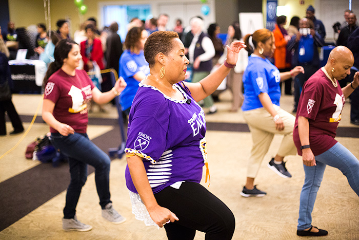 The 1599 Line Dancers provided a demonstration at the Healthy New YOU Expo in Cox Hall Ballroom.
