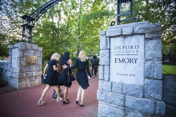 Students consoled and supported one another while joining in a symbolic procession to Oxford's Seney Hall, located on the Oxford Quadrangle in the heart of campus.