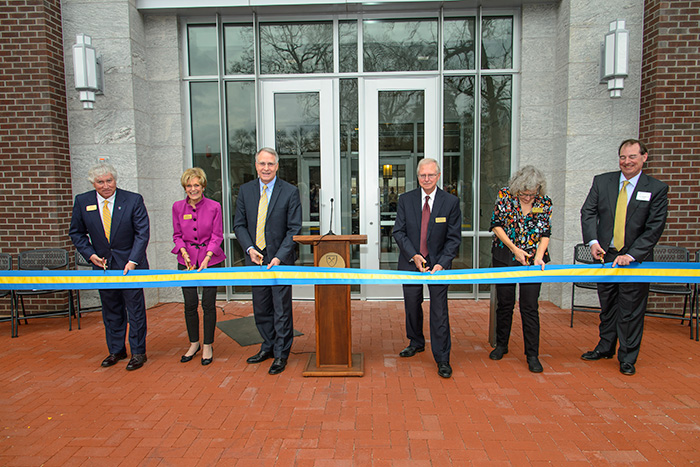 The grand opening of Oxford College's new science building drew a crowd of more than 400 for a ceremonial ribbon-cutting, tours and hands-on lab demonstrations. Photos by Tony Benner.