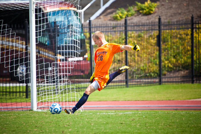 Men's soccer goal keeper Abe Hannigan