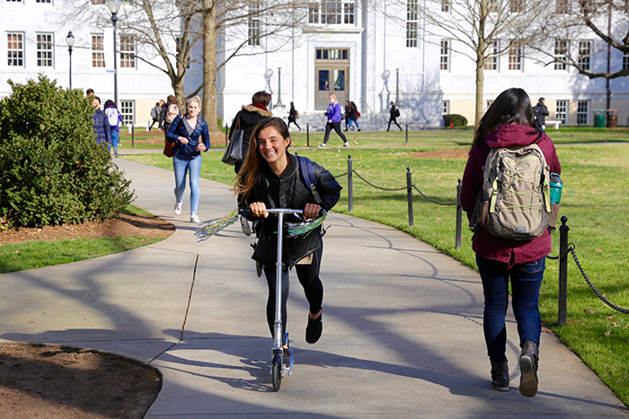Photos of students on Emory campus as spring semester begins