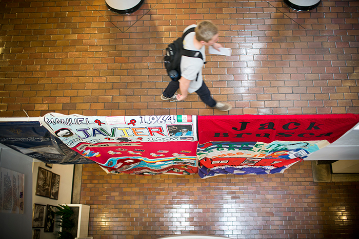 The quilt on display at the DUC.