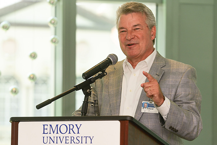 David Pugh, vice President for facility and space design for Emory Healthcare says this project has been a labor of love, with so many different people involved in the tower's design.