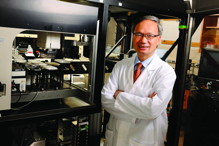 Haian Fu is a pharmacologist at Winship and head of Emory's Chemical Biology Discovery Center. He has some powerful allies and tools in his laboratory that are leading to the development of new lung cancer therapies.