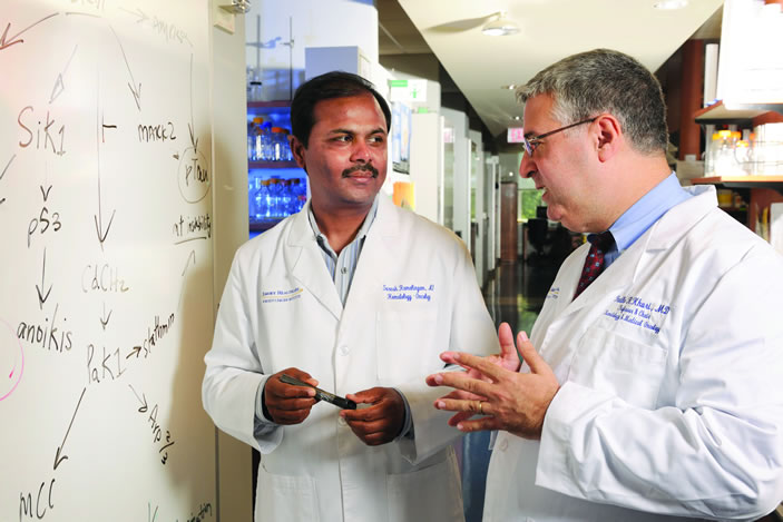 At Winship Cancer Institute, Suresh S. Ramalingam and Fadlo R. Khuri are determined to translate gene mutation research discoveries into new, more targeted therapies for the patients they see every day.