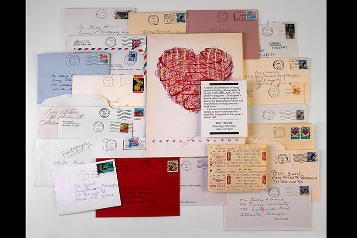 collection of envelopes to billy howard