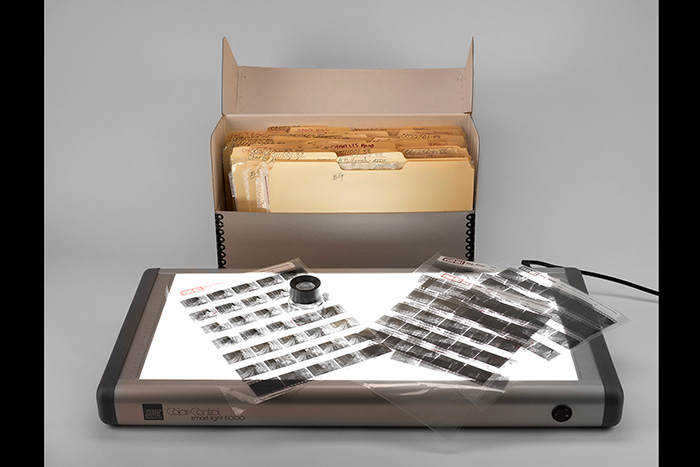 Box of photographic negatives