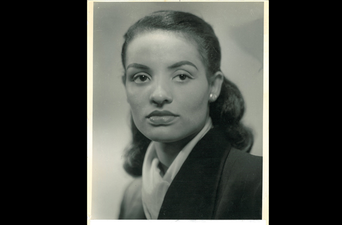 A modeling shot of Ophelia DeVore from the 1940s. Credit: Ophelia DeVore papers, MARBL, Emory University.