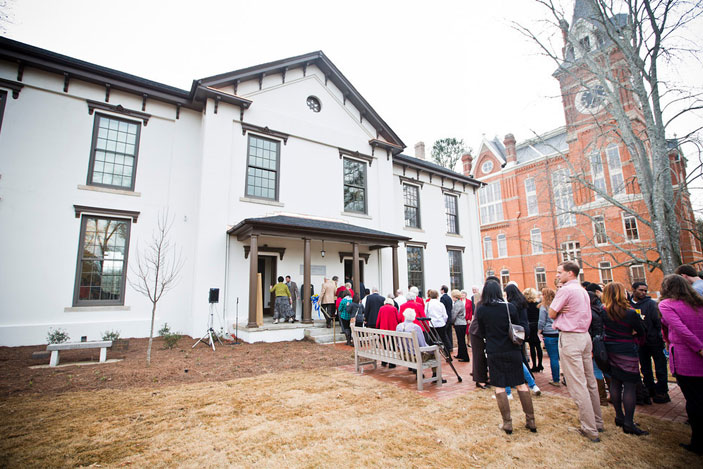 A grand opening and ribbon-cutting ceremony for the Oxford College's Language Hall on January 13 brought together the project's participants.