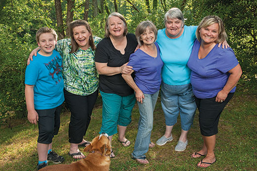 Chastain family portrait