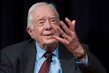 President Jimmy Carter shares leadership lessons with students
