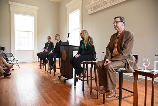 Leading the conversation were (L-R) Dean Douglas A. Hicks of Oxford College; Dean Michael A. Elliott of Emory College of Arts and Sciences; assistant professor Tasha Dobbin-Bennett; and professor Peter Höyng.
