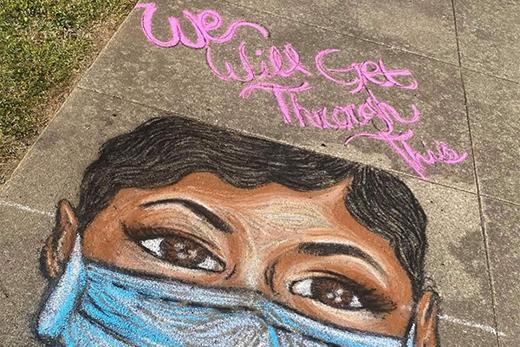 Chalk art that is part of Healing Through Art online gallery