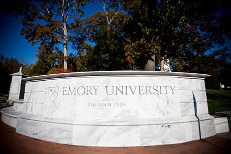 Emory University entrance sign