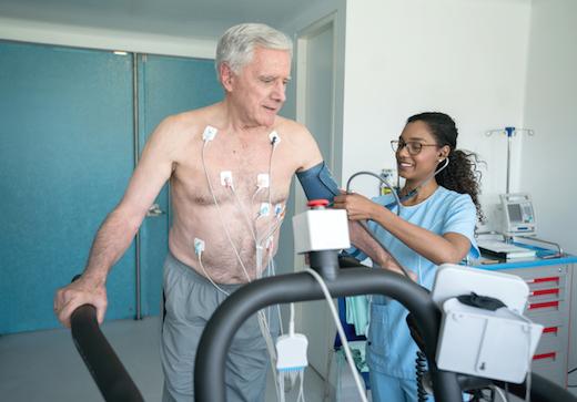 Cardiac stress test and sperm